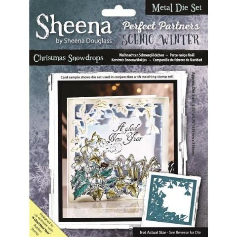 Sheena Douglass Perfect Partners Scenic Winter - Christmas Snowdrops Die